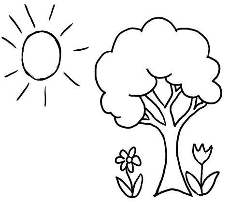 tree to color tree coloring pages free printable tree coloring