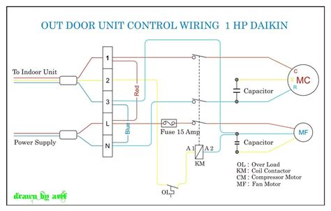 daikin outdoor wiring refrigeration air conditioning