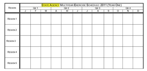 8 Free Sle Exercise Schedule Templates Printable Sles Free Workout Schedule Template