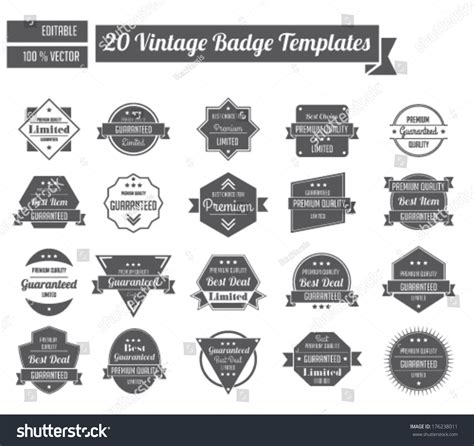 vintage badge templates stock vector 176238011 shutterstock