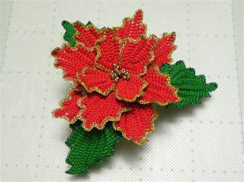 antel de noche buenas a crochet manualidades y navidad nochebuenas tejidas