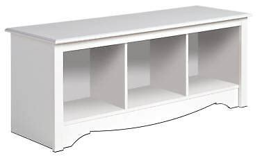Sleep Number Bed Beaumont Texas New White Prepac Large Cubbie Bench 4820 Storage Usd 114