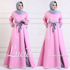 Baju Pakaian Wanita Gamis Maxi Lucia Dress Teracota Murah Meriah modest sleeve checkered print maxi dress length mode sty mode sty clothing