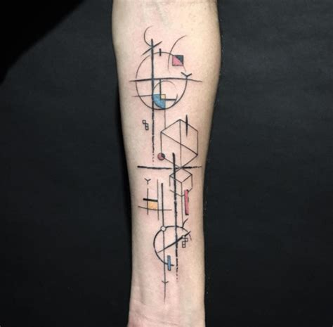 wonderful geometric tattoo on forearm