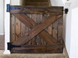 Barn Door Gates Items Similar To Custom Wood Barn Door Baby Gate On Etsy
