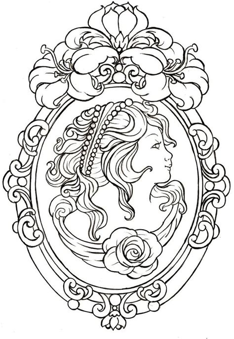 cameo tattoo designs best 25 cameo frame tattoos ideas on framed