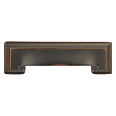Cabinet Door Pulls Shop Hickory Hardware 3 In And 96mm Center To Center Rubbed Bronze Highlighted Studio Cup