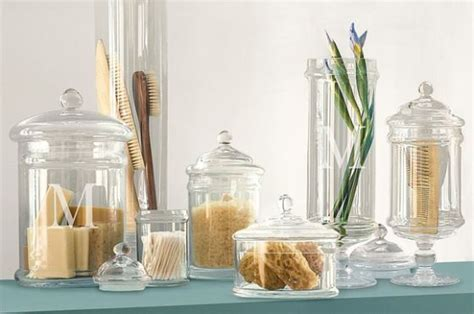 bathroom decor apothecary jars usage lovely bathroom