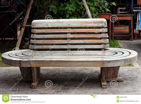 train bench vintage wooden bench on railway station stock image