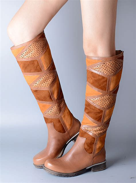 buy wholesale light brown knee high boots from
