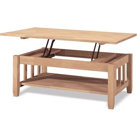 coffee table that raises up occasional furniture mission coffee table w lift top by inter