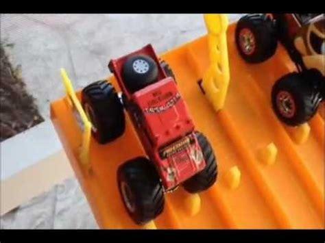 monster truck drag race hotwheels monster truck drag racing 4 youtube