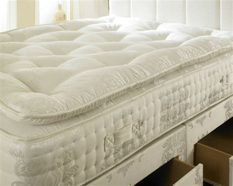pocket spring organic pillow top mattress double ft