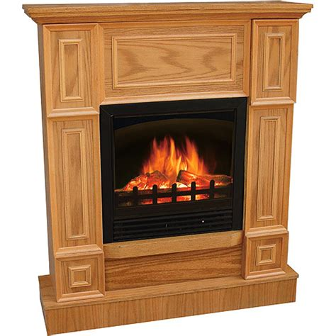 quality craft electric fireplace 44 quot traditional oak