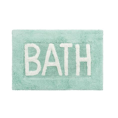 Cotton Bathroom Rug Cotton Bath 21 In X 34 In Aqua Blue Rug Bath Rugs Bath And Linens