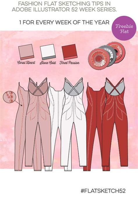 Flat Sketch Jumper Overall Pantsuit With Rhinestones Free Download Template Fashion Learning Clothing Design Templates For Photoshop