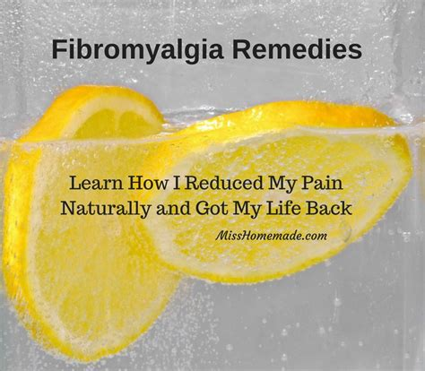 fibromyalgia remedies misshomemade