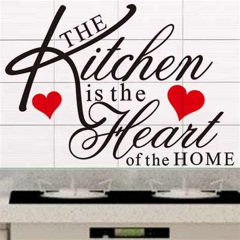 the kitchen is the of the home quote wall decal