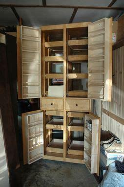 hand crafted custom pantry  doors  wooden   nice