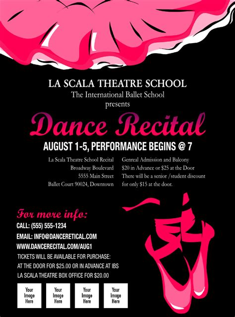 templates for dance flyers dance recital flyer