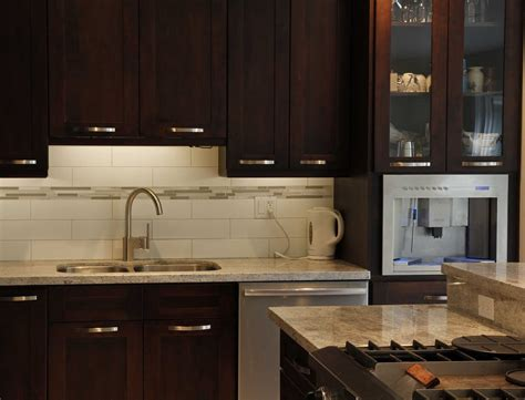 espresso kitchen cabinets with backsplash mahogany veneer espresso kitchen cabinets with white