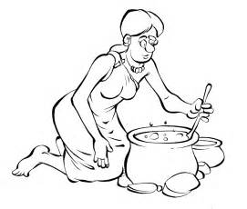 Drawings Of Black Women Cooking Sketch Coloring Page sketch template