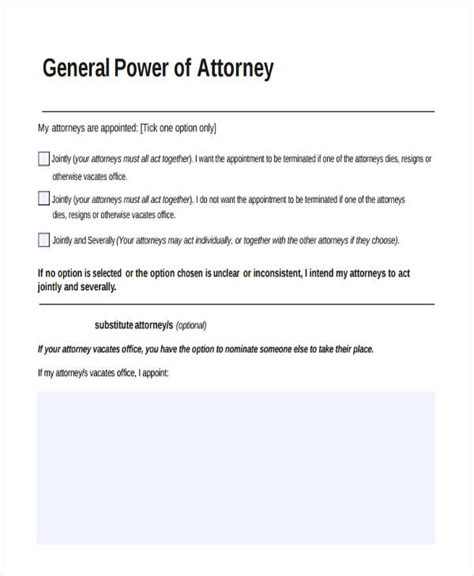general power of attorney form durable free georgia