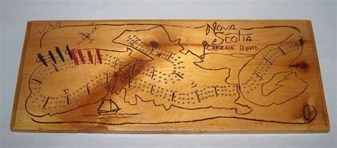 Crib Boards Canada by Carved Wood Scotia Cribbage Board From