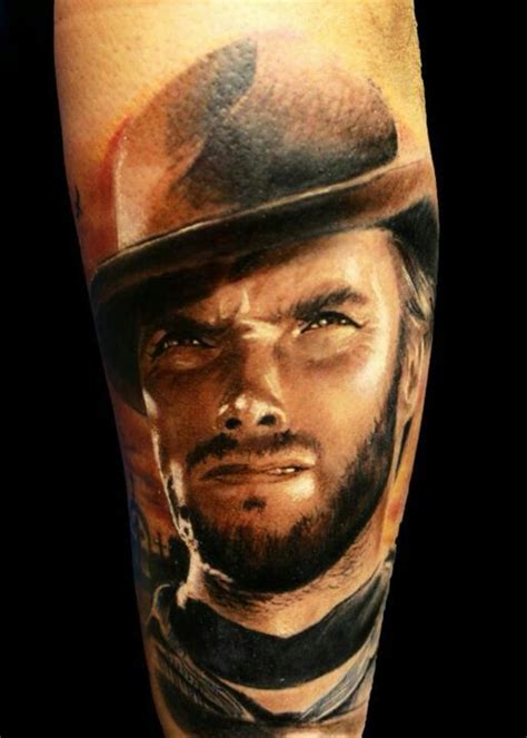 clint eastwood tattoo clint eastwood portrait by michele agostini tribal