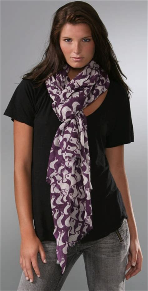 virginia johnson ducks scarf shopbop