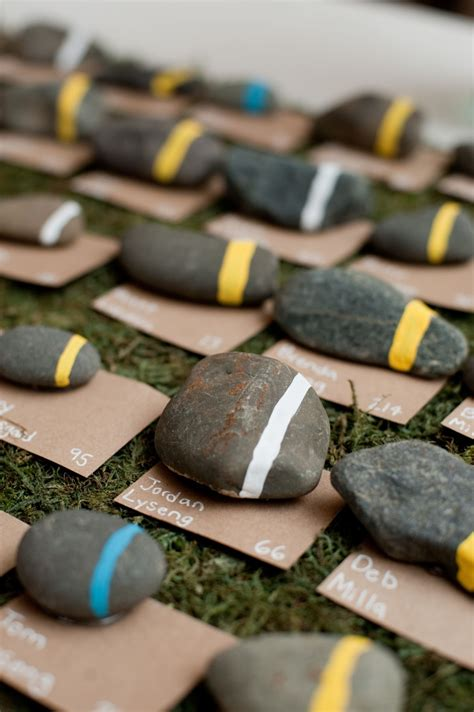 Rock Decorations by Say I Do To These Fab 51 Rustic Wedding Decorations