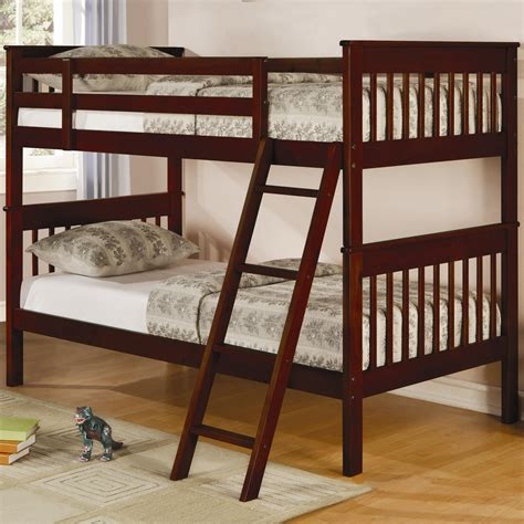 bunk bed slats parker twin slat bunk bed bunk beds coa 460231 5