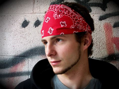 biker bandana look cute on thin hair mens headband red bandana motorcycle headband bandana