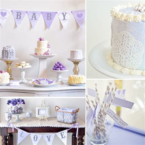 Lavender Baby Shower Decorations lavender baby shower