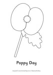 poppy day colouring page