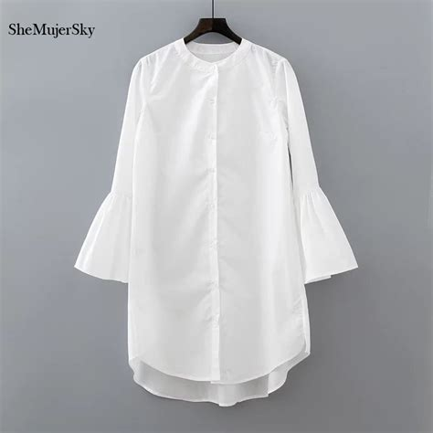White Shirt Aliexpress by White Shirt Dress Summer 2017 Fashion Flare Sleeve Dress Casual Clothing Vestidos