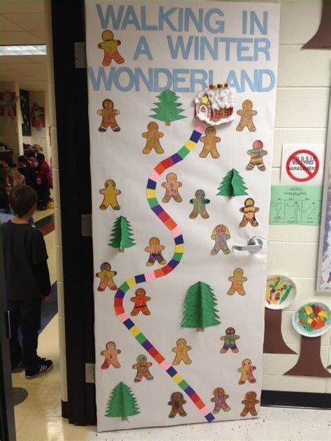 awesome elementary school winter door decorations