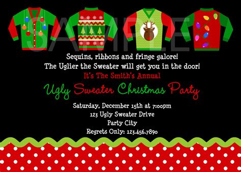 ugly sweater party invitations theruntime com