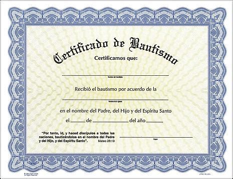 baptismal certificate spanish editorial bautista