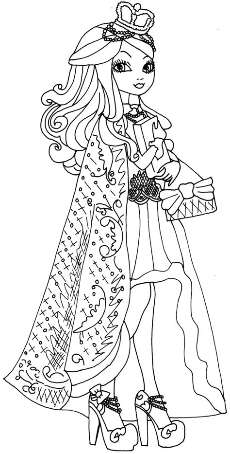 coloring pages of apple white free printable ever after high coloring pages december 2013