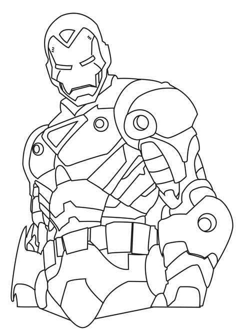 printable ironman colouring pages for kids download free