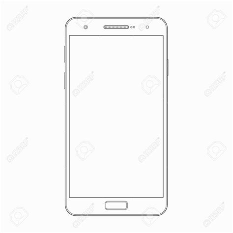 Smartphone Outline Www Topsimages Com Phone Template