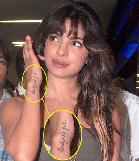tattoo on priyanka s hand 14 awesome bollywood celebrities their tattoos