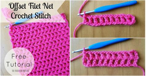 Home Decor Idea How To Crochet Offset Filet Net Free Pattern Amp Tutorial