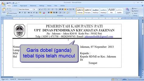 tutorial membuat garis kop surat cara membuat garis di microsoft word 2003 tutorial word