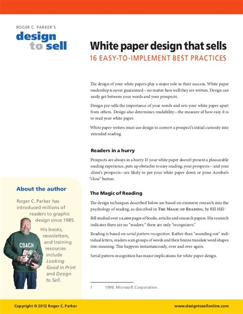 White Paper Design Tips That Sell Writing A White Paper Template