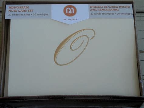 staples printable note cards staples monogram note card set 20 embossed cards