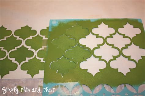 fabric pattern stencils ideas simply this and that stenciled fabric cork board