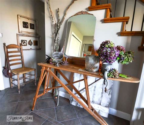 Rustic Home Decor Canada fall junkers unite with an ironing board table a pin