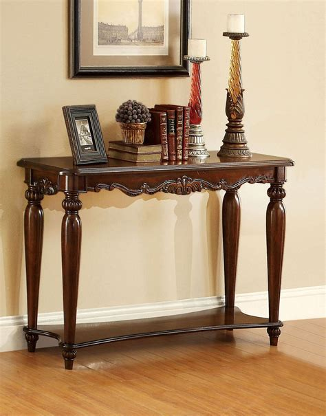 cherry sofa table bunbury cherry sofa table from furniture of america